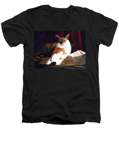 In Her Glory II               Men's V-Neck T-Shirt by Kathy Braud