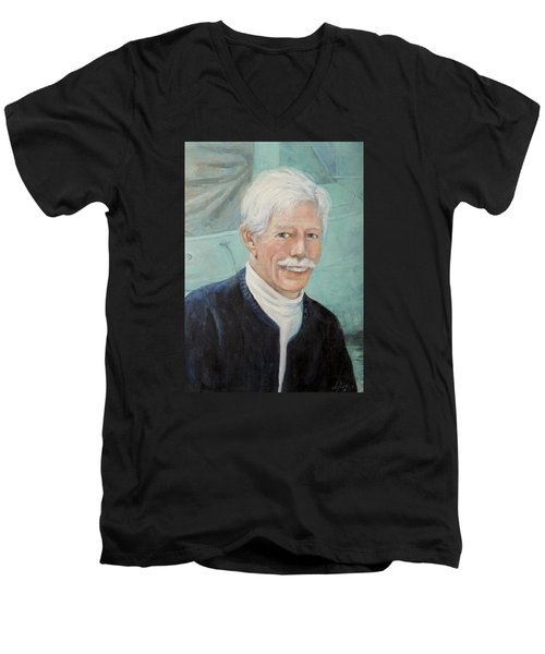 In Memory Of Uncle Bud Men's V-Neck T-Shirt by Donna Tucker