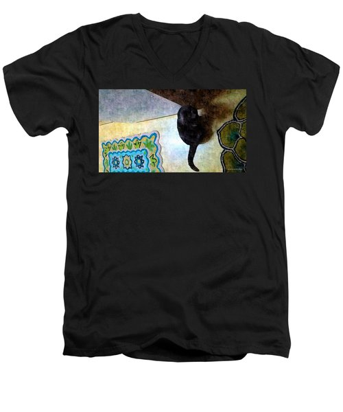 In Or Out  Men's V-Neck T-Shirt by Karl Reid