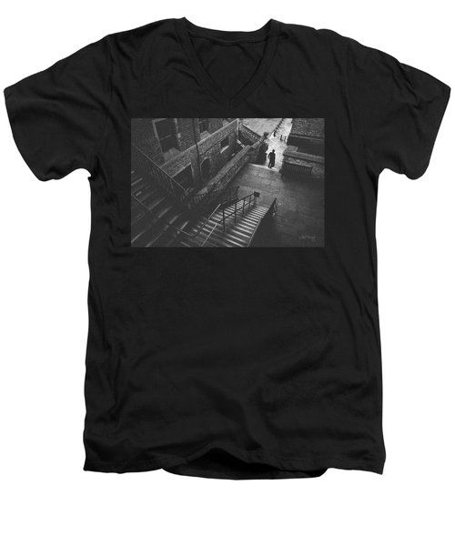 In Pursuit Of The Devil On The Stairs Men's V-Neck T-Shirt
