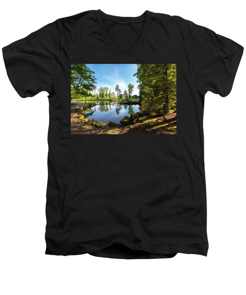 Men's V-Neck T-Shirt featuring the photograph In The Early Morning Light by Tom Mc Nemar