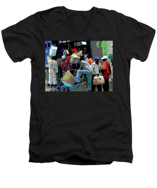In The Market Place Men's V-Neck T-Shirt