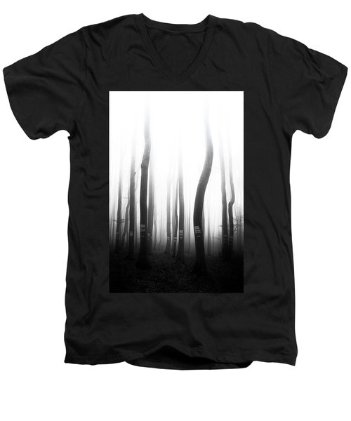 In The Misty Forest Men's V-Neck T-Shirt