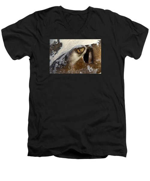 Men's V-Neck T-Shirt featuring the photograph In The Sand by Aaron Whittemore
