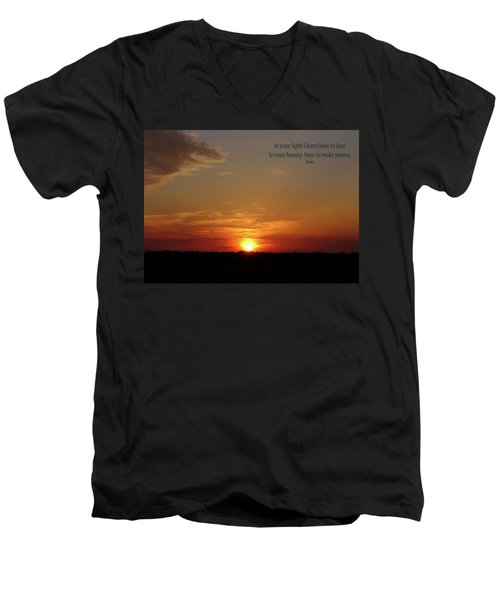 In Your Light Men's V-Neck T-Shirt by Rhonda McDougall