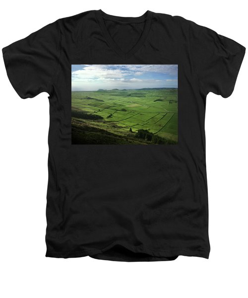 Incide The Bowl Terceira Island, Azores, Portugal Men's V-Neck T-Shirt