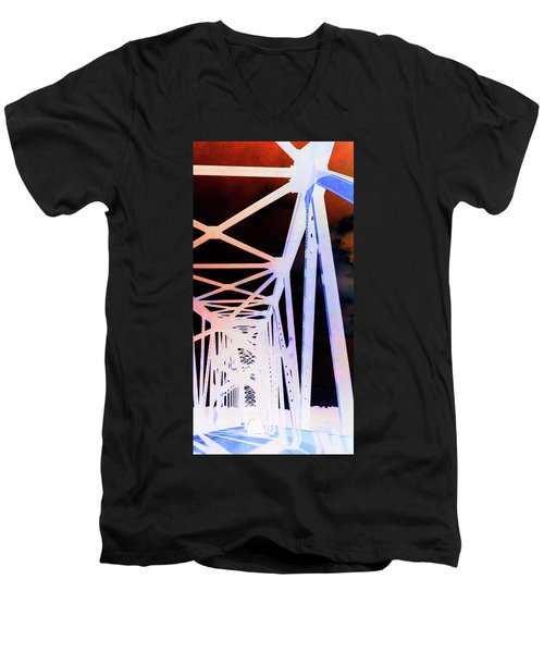 Men's V-Neck T-Shirt featuring the photograph Indefinite Sight In by Jamie Lynn