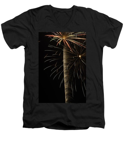 Independance IIi Men's V-Neck T-Shirt by Michael Nowotny
