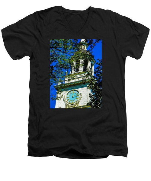 Independence Hall Clock Tower Men's V-Neck T-Shirt