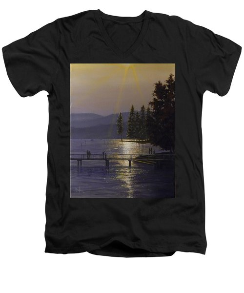 Independence Point, Lake Coeur D'alene Men's V-Neck T-Shirt