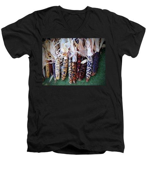 Indian Corn Men's V-Neck T-Shirt