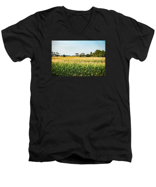 Indiana Corn Field Men's V-Neck T-Shirt