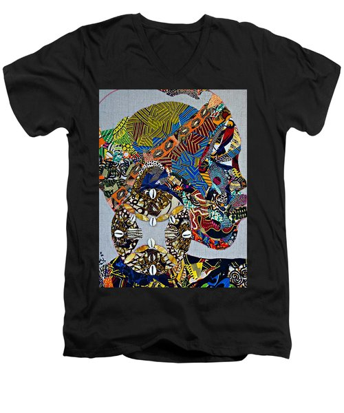 Indigo Crossing Men's V-Neck T-Shirt by Apanaki Temitayo M
