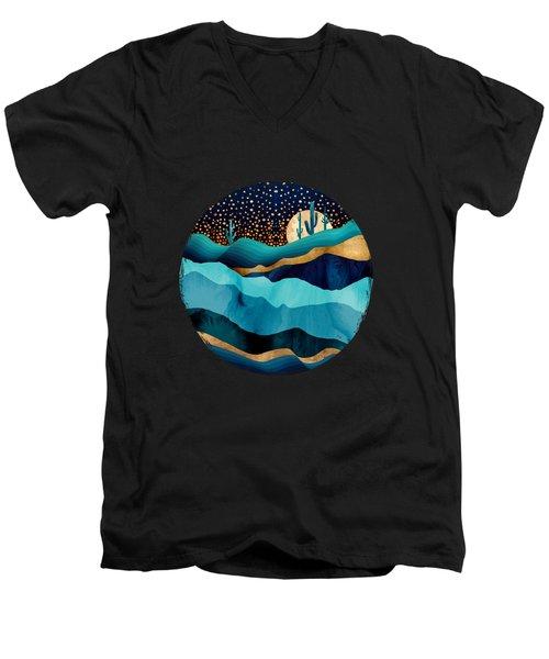 Indigo Desert Night Men's V-Neck T-Shirt