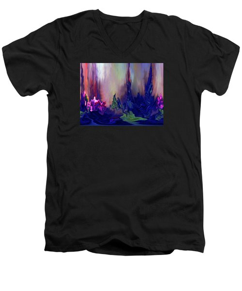 Indigo Rising Men's V-Neck T-Shirt by Cedric Hampton