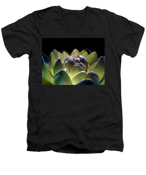 Indonesian White Lotus Men's V-Neck T-Shirt
