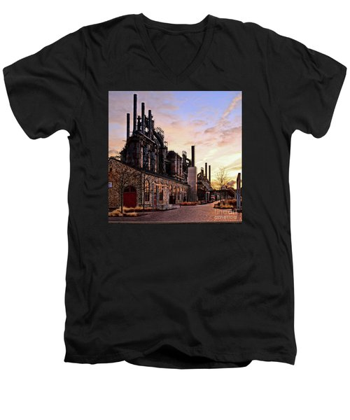 Industrial Landmark Men's V-Neck T-Shirt