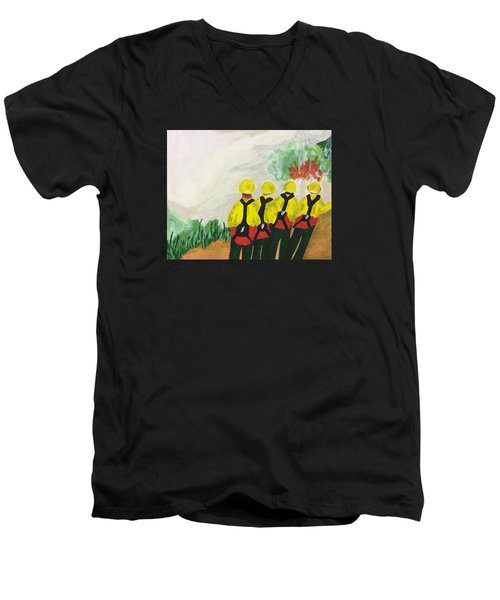 Initial Attack Men's V-Neck T-Shirt