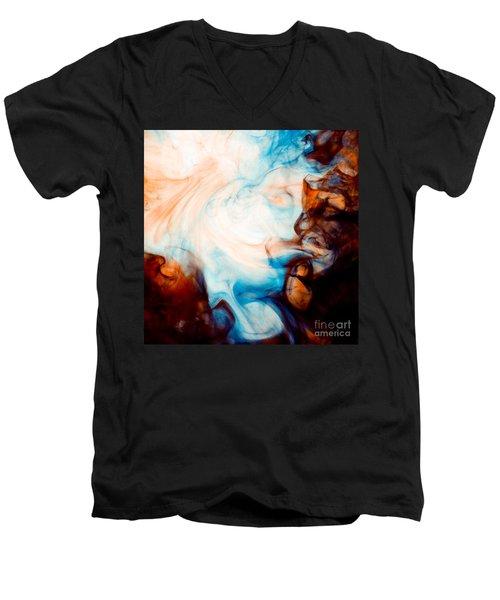 Ink Swirls 001 Men's V-Neck T-Shirt