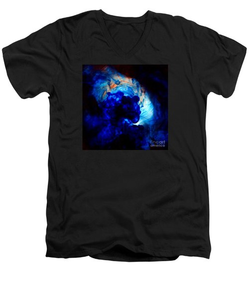 Ink Swirls 002 Men's V-Neck T-Shirt