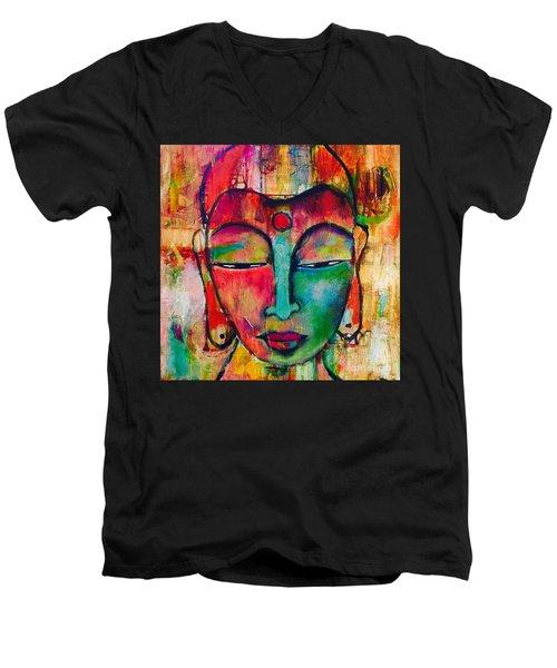 Inner Buddha  Men's V-Neck T-Shirt