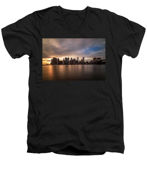 Men's V-Neck T-Shirt featuring the photograph Inner Glow  by Anthony Fields