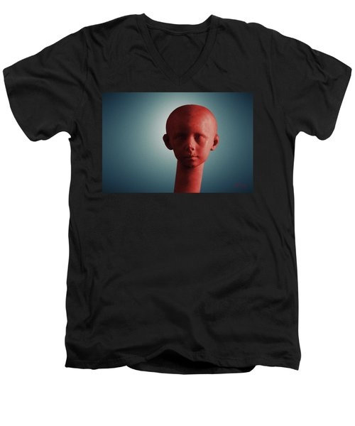 Men's V-Neck T-Shirt featuring the photograph Innocence In Color by Joseph Westrupp