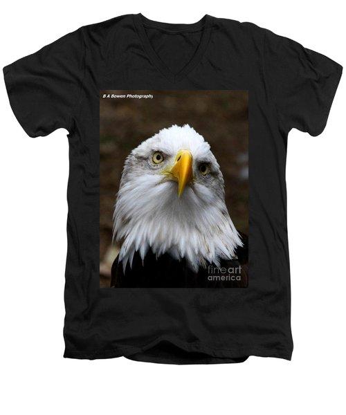Inquisitive Eagle Men's V-Neck T-Shirt