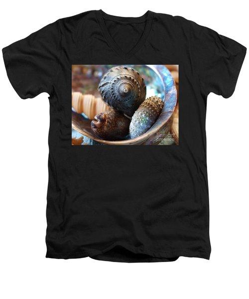 Inside A Shell Men's V-Neck T-Shirt