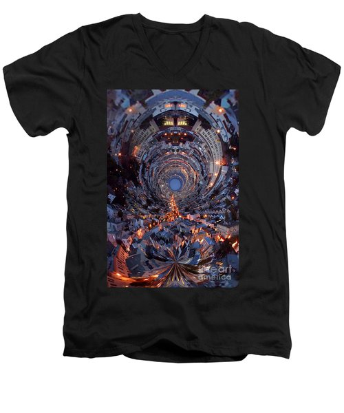 Inside A Space Station To The Galaxy Far Men's V-Neck T-Shirt by Wernher Krutein