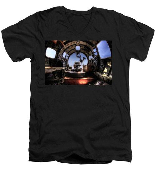 Inside The Flying Fortress Men's V-Neck T-Shirt