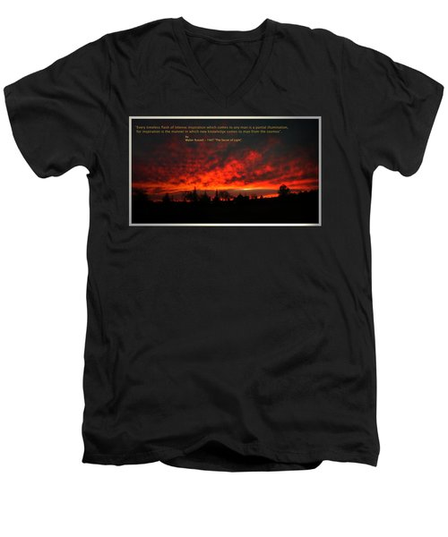 Men's V-Neck T-Shirt featuring the photograph Inspiration by Joyce Dickens