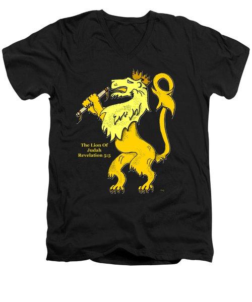 Inspirational - The Lion Of Judah Men's V-Neck T-Shirt