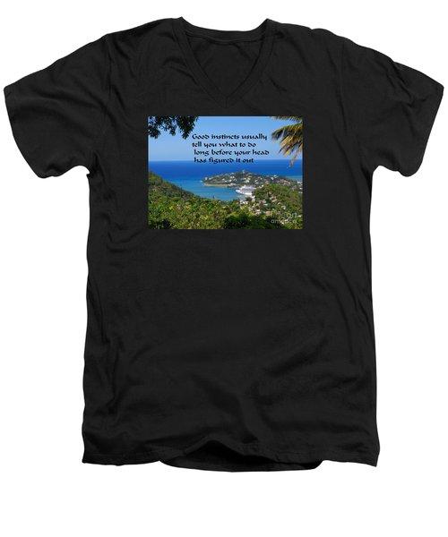 Instincts Men's V-Neck T-Shirt