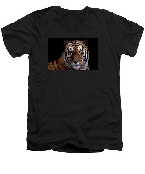 Intense Men's V-Neck T-Shirt by Skip Willits