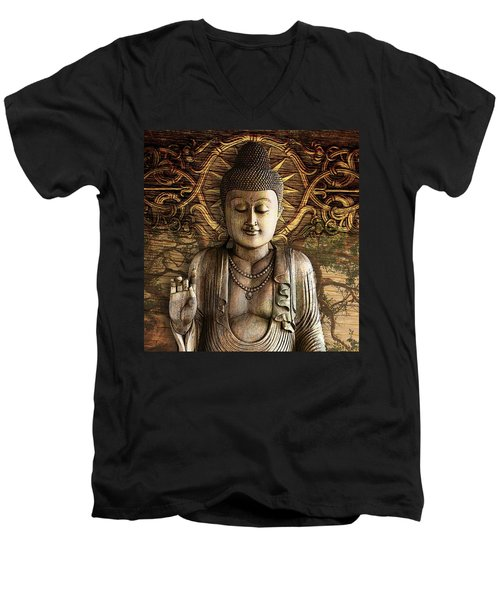 Intentional Bliss Men's V-Neck T-Shirt by Christopher Beikmann