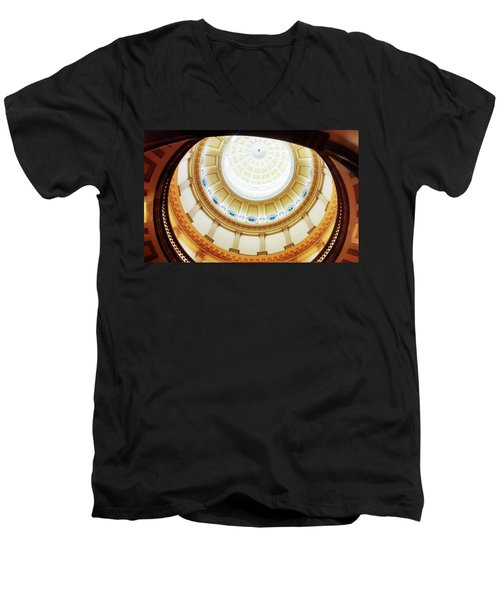 Men's V-Neck T-Shirt featuring the photograph Interior Denver Capitol by Marilyn Hunt