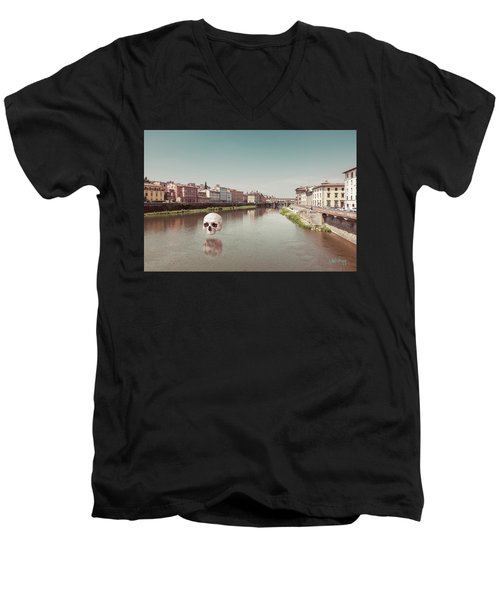 Men's V-Neck T-Shirt featuring the photograph Interloping, Florence by Joseph Westrupp