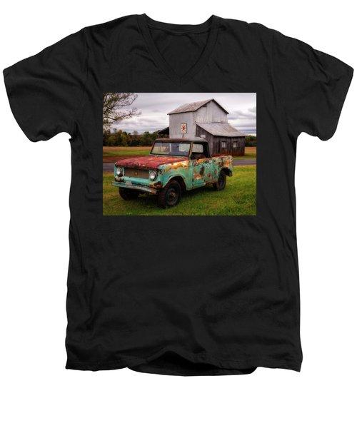 Men's V-Neck T-Shirt featuring the photograph International Scout by Alan Raasch