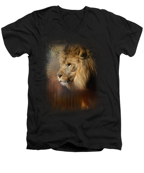 Into The Heat Men's V-Neck T-Shirt by Jai Johnson