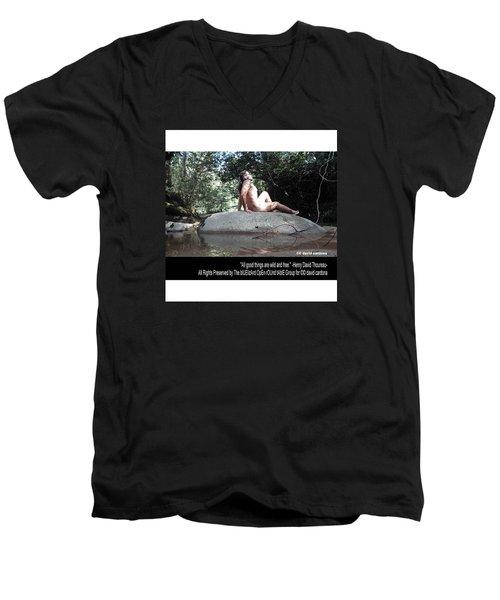Into The Wild Men's V-Neck T-Shirt by David Cardona