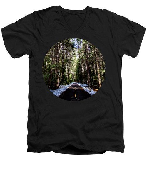 Into The Woods Men's V-Neck T-Shirt by Adam Morsa
