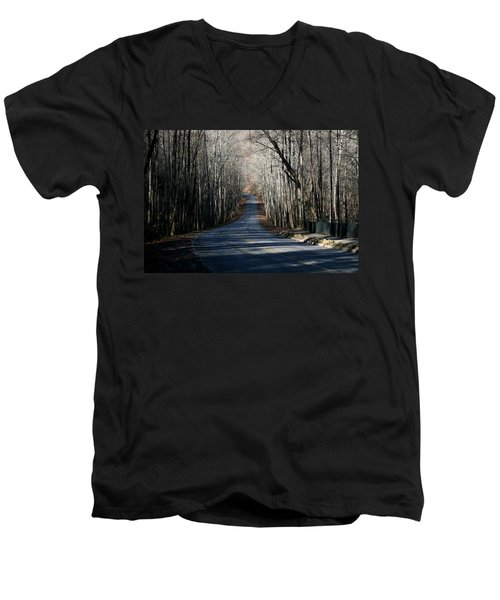 Into The Woods Men's V-Neck T-Shirt by Cathy Harper