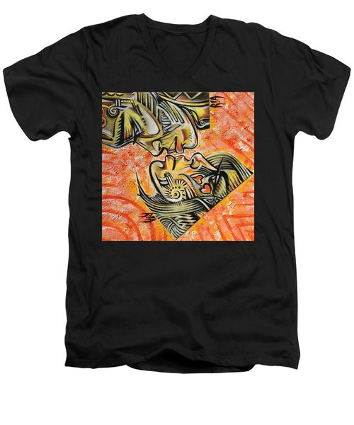 Intricate Intimacy Men's V-Neck T-Shirt by RiA RiA