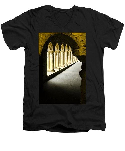 Iona Abbey Scotdland Men's V-Neck T-Shirt by Sally Ross