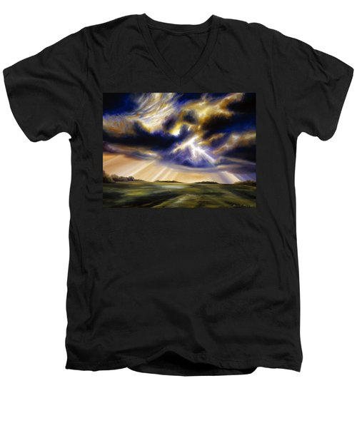 Iowa Storms Men's V-Neck T-Shirt