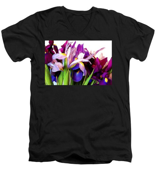 Iris Bouquet Men's V-Neck T-Shirt