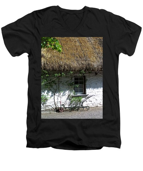 Irish Farm Cottage Window County Cork Ireland Men's V-Neck T-Shirt