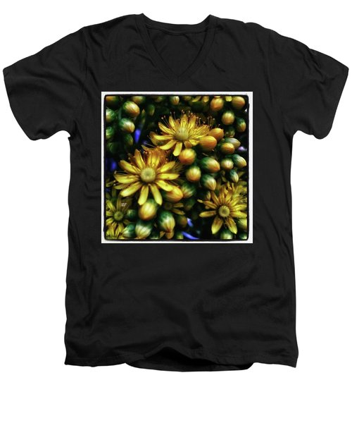 Men's V-Neck T-Shirt featuring the photograph Irish Rose. Also Known As Pinwheel by Mr Photojimsf