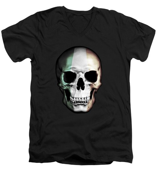 Irish Skull Men's V-Neck T-Shirt